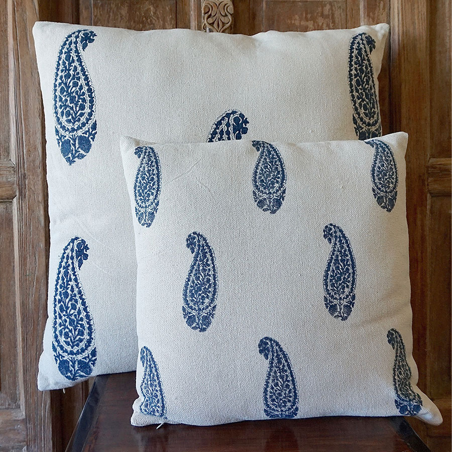 Hand Blocked Mughal Style Pillow