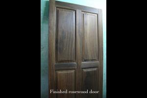 Finish rosewood door