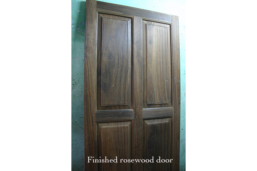 Finish rosewood door
