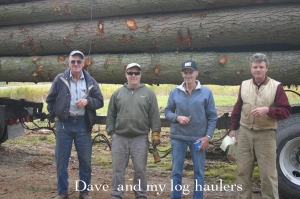 Dave Nesbit and my log haulers