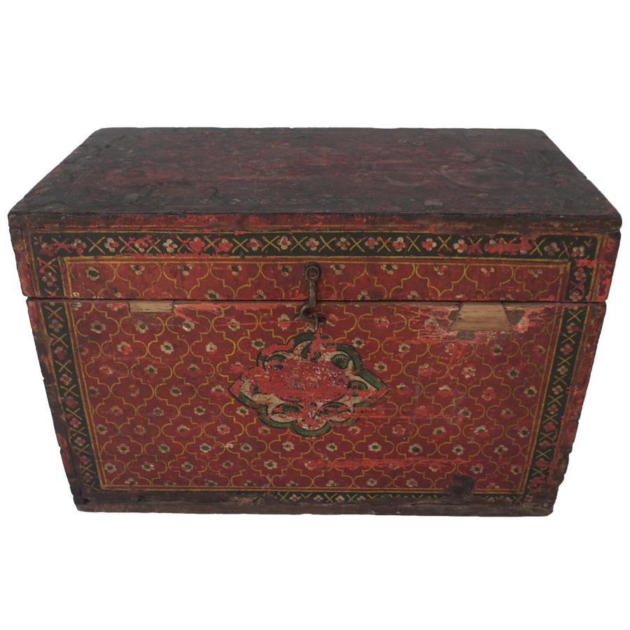 Antique Jain religious manuscript box