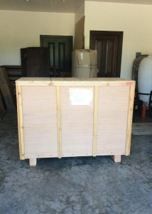 palleted and crated cabinet