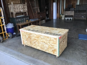 wooden crate for table