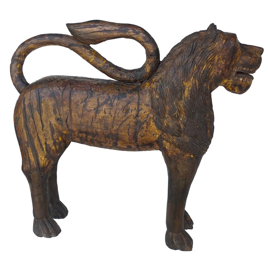 wooden lions
