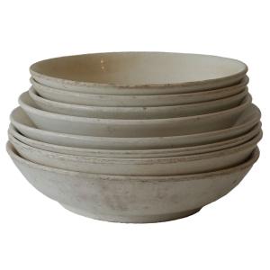 white peasant ware bowls