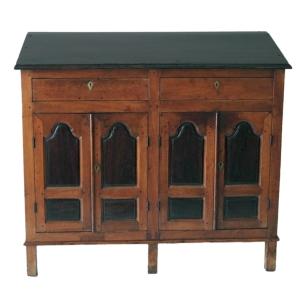 Rosewood & teak writing desk