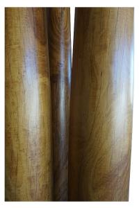 Four satinwood pillars