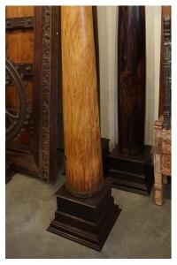 satinwood and rosewood pillars