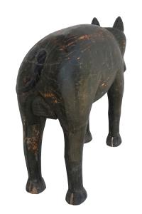 painted wooden wild boar