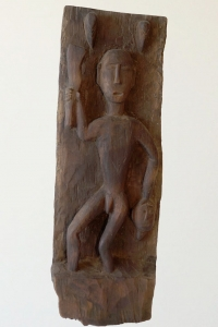 Tribal Headhunter Carving