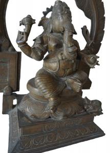 Lost wax bronze Ganesh