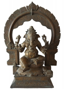 Lost wax bronze Ganesh