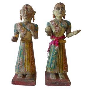 Gangaur Goddesses with original paint