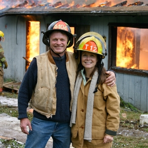 Lydia and I at the house fire