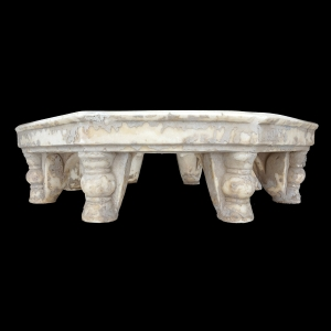 8 sided marble bajot low table