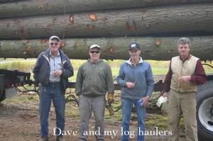 Dave Nesbit and my log haulers