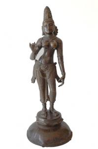 brass statue Parvati standing