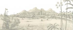 1690's Dutch print of Kollam, Kerala