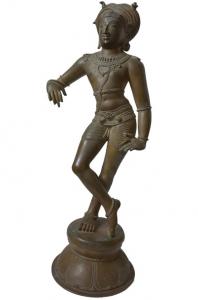 Brass Shiva statue standing