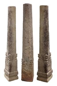 Chettinad granite pillars