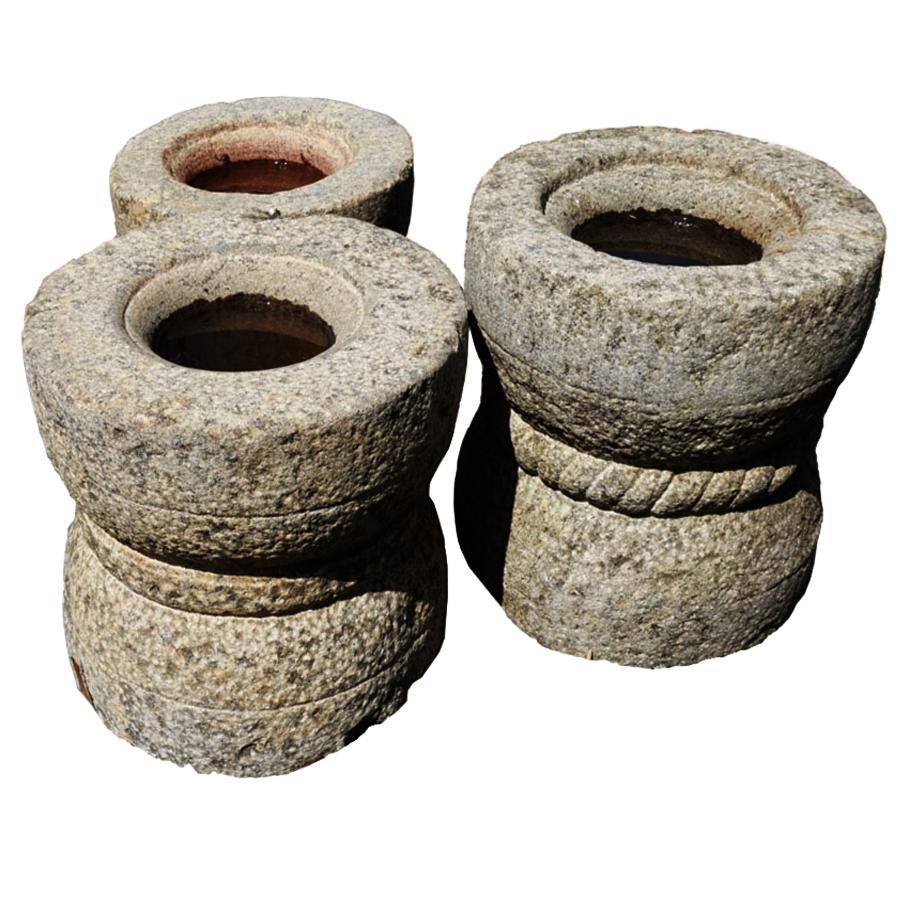 granite grain grinding mortars from India
