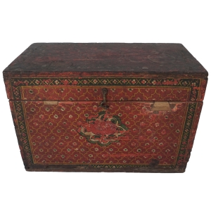 Antique manuscript box