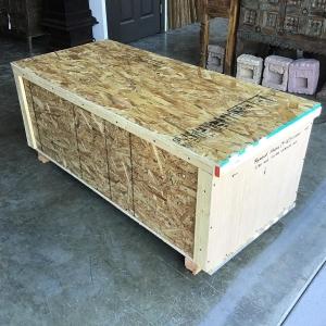 wooden crate for damachiya