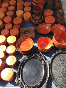 Old Burmese lacquerware