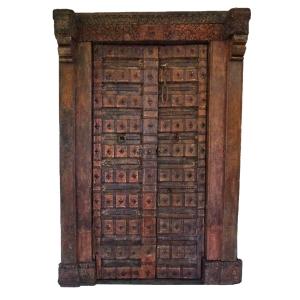 old Rajasthani door