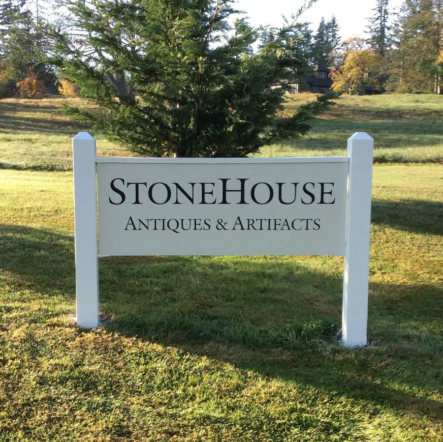 Stonehouse Artifacts shop sign