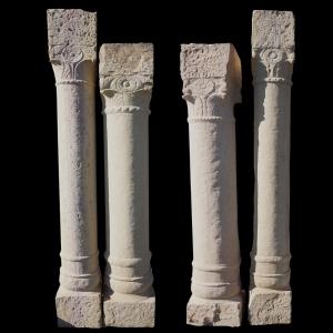 antique sandstone pillars