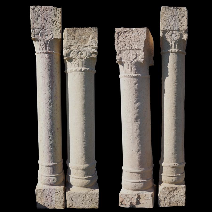 old sandstone pillars
