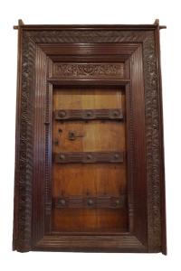 ornate teak door fro Tamil Nadu