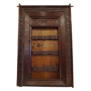 ornate teak door fro Tamil Nadu