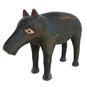 painted wooden wild boar