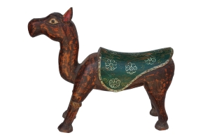 painted wooden camel
